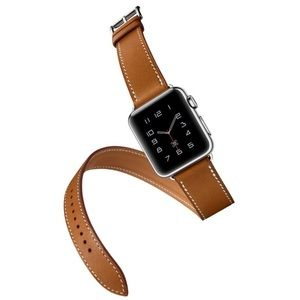 Accessories - 42mm Double Tour Apple Watch Leather Band